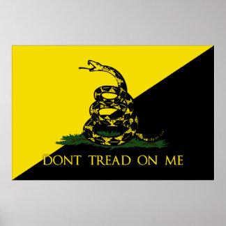 No pise en mí la bandera del anarquista póster