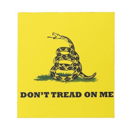 No pise en mí la bandera del gadston bloc de papel