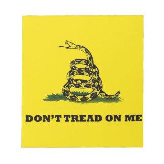 No pise en mí la bandera del gadston blocs de notas
