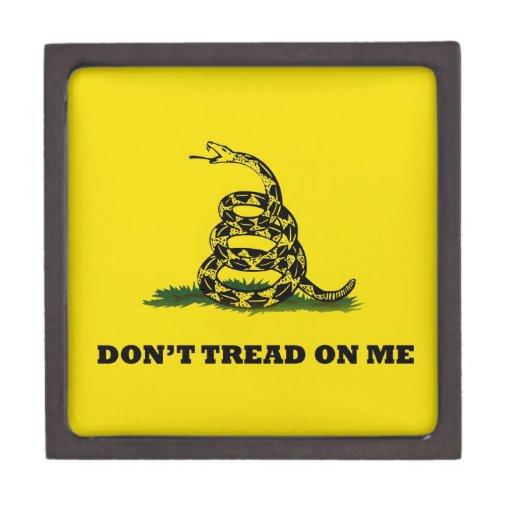 No pise en mí la bandera del gadston caja de joyas de calidad