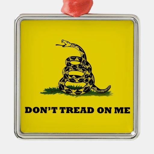 No pise en mí la bandera del gadston ornamento para reyes magos