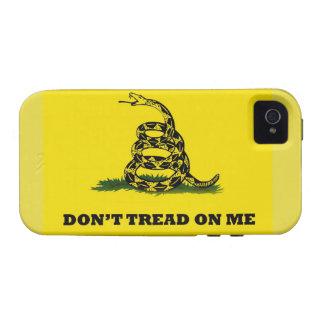 No pise en mí la bandera del gadston vibe iPhone 4 carcasa