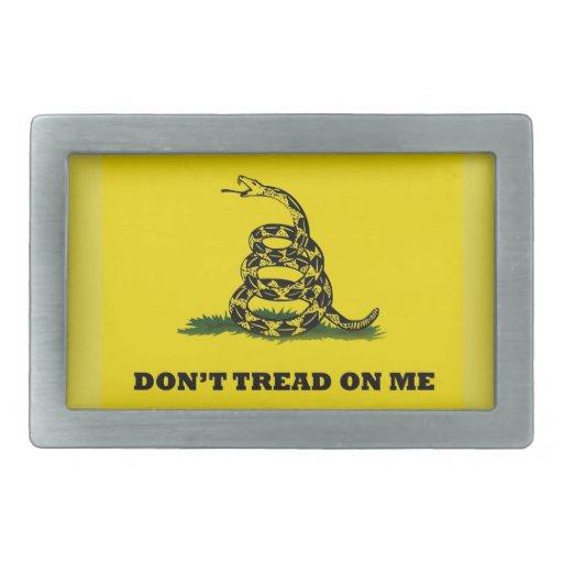 No pise en mí la bandera del gadston hebillas cinturón