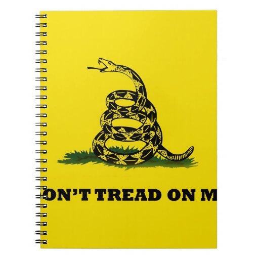 No pise en mí la bandera del gadston libreta espiral