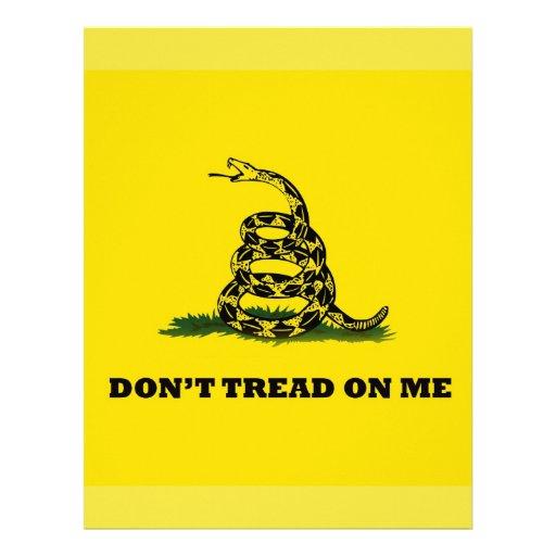 No pise en mí la bandera del gadston plantilla de membrete