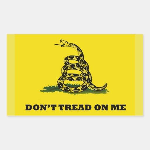 No pise en mí la bandera del gadston rectangular altavoces