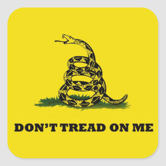 No pise en mí la bandera del gadston pegatina cuadrada