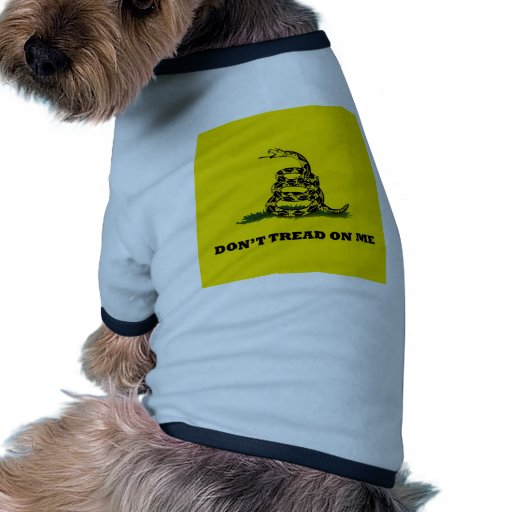 No pise en mí la bandera del gadston camiseta de perrito
