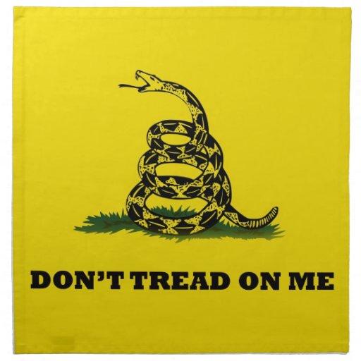 No pise en mí la bandera del gadston servilletas