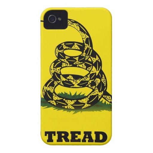 No pise en mí la bandera Case-Mate iPhone 4 protectores