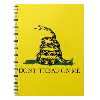 No pise en mí la bandera libro de apuntes con espiral
