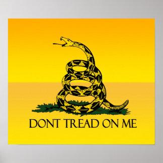 No pise en mí la bandera póster