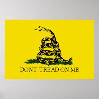 No pise en mí la bandera revolucionaria de Gadsden Póster
