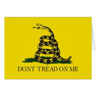 No pise en mí la bandera revolucionaria de Gadsden Tarjetas