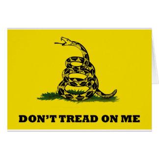No pise en mí la bandera tarjeta de felicitación