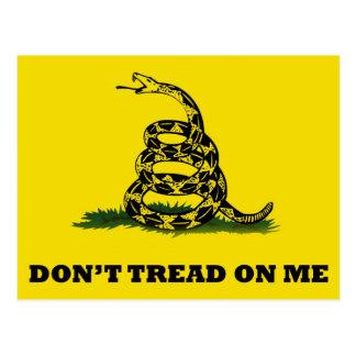 No pise en mí la bandera tarjeta postal
