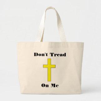 No pise en mí la libertad religiosa cruzada bolsa tela grande