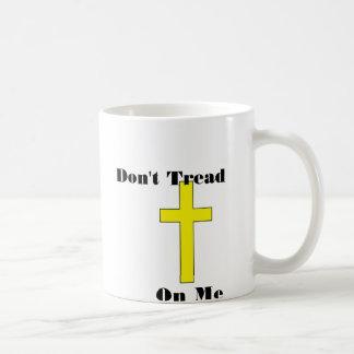 No pise en mí la libertad religiosa cruzada taza de café