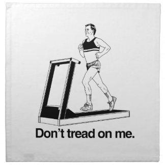 No pise en mí la rueda de ardilla servilletas imprimidas