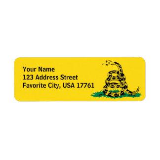 No pise en mí las etiquetas de dirección