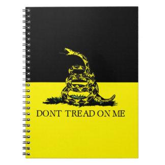 No pise en mí libro de apuntes con espiral