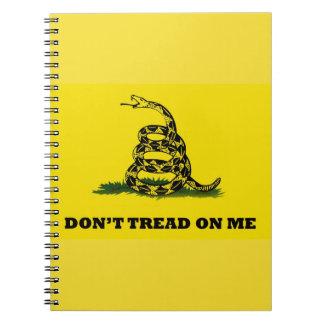 No pise en mí libreta espiral