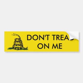 No pise en mí pegatina de parachoque