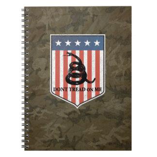 No pise en mí spiral notebook