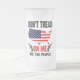 No pise en mí taza de cristal