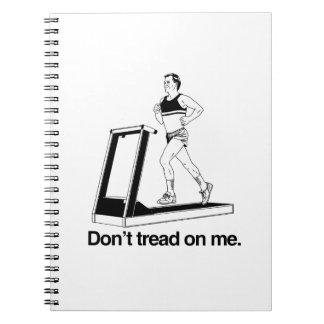 No pise en mí treadmill png libretas espirales