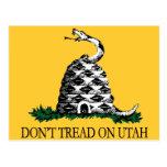 No pise en Utah Tarjeta Postal