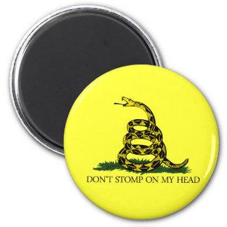 No pise fuerte en mi cabeza imán redondo 5 cm
