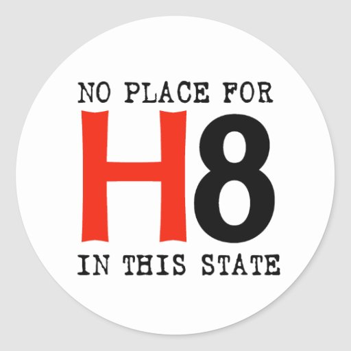 No place for H8 Sticker