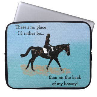 No Place I'd Rather Be - Equestrian Horse Computer Sleeve