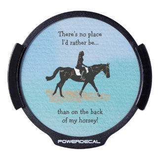 No Place I'd Rather Be - Equestrian Horse LED Window Decal