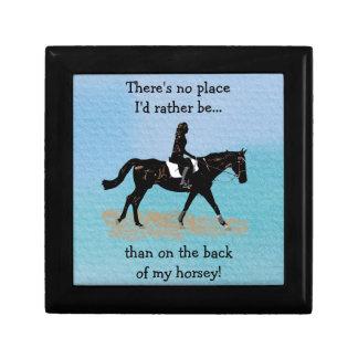 No Place I'd Rather Be - Equestrian Horse Keepsake Box