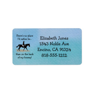 No Place I'd Rather Be - Equestrian Horse Label