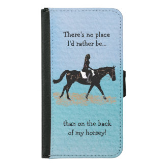 No Place I'd Rather Be - Equestrian Horse Samsung Galaxy S5 Wallet Case