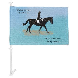 No Place I'd Rather Be - Equestrian Horse Car Flag