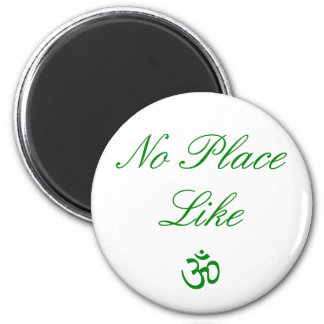 no place like aum green 2 inch round magnet