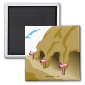 No Place Like Home 2 Inch Square Magnet