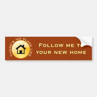 No Place Like Home Button Car Bumper Sticker