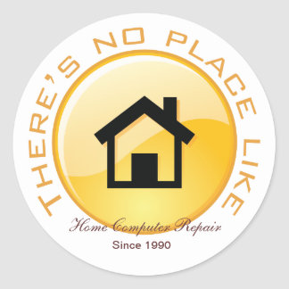 No Place Like Home Button Classic Round Sticker