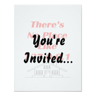 no place like home personalized invitations
