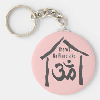No Place Like Om Calligraphy Keychain