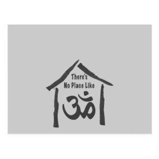 No Place Like Om Calligraphy Postcard