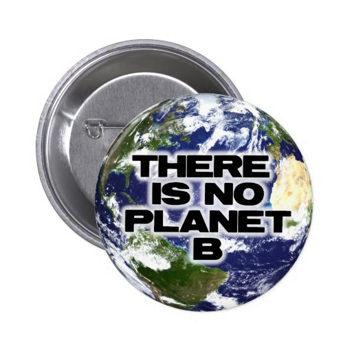 No Planet B Pinback Buttons