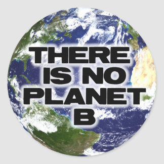 No Planet B Classic Round Sticker