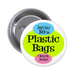 No Plastic Bags Buttons