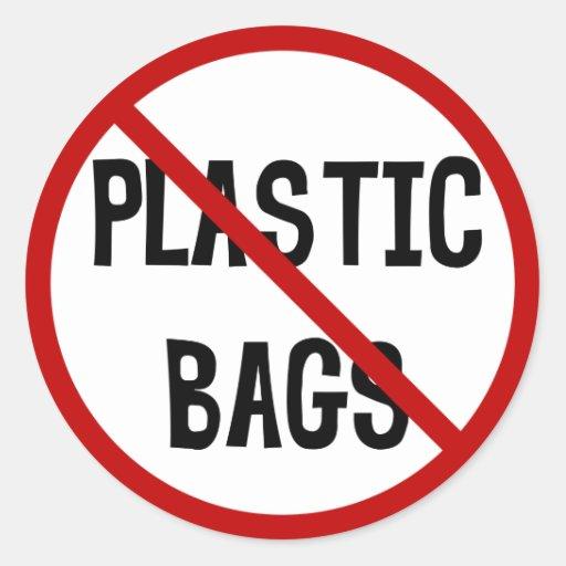 no plastic bags sticker zazzle